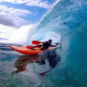 Surfing and Kayaking