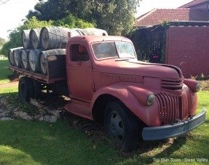 old chevy truck at swanbrook winery